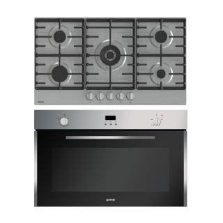 Gorenje Built In Gas oven 90 cm BOG932E10FX + Gas hob 90 cm 5 burners GW9C51X