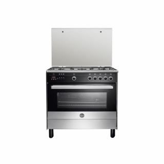 LA GERMANIA Freestanding Cooker 90 x 60 cm 5 Gas Burners In Stainless x Black Color 9M10G4A1X4AWW
