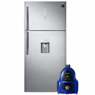 SAMSUNG REFRIGERATOR 618L DIGITAL RT62K7150SL/MR + gift Samsung Canister Bagless Vacuum Cleaner, 1800 Watt, Blue - VCC4540S36/EGT