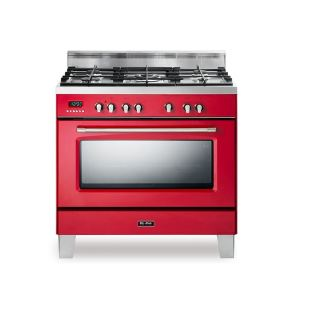 Elba cooker 4 Gas burners + 1 triple burner-cast iron pan supports - 9 functions -safety devices