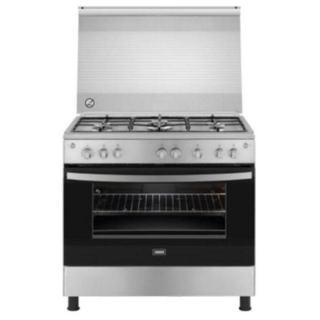Zanussi Freestanding Gas Cooker, 5 Burners, Stainless Steel, 90 cm - ZCG92356XA