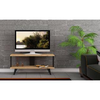 TV unit Consists of two open shelves unit width.