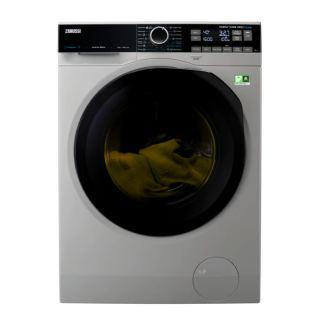 Zanussi ZW8F1168MS Front Load Pro-Steam Inverter Automatic Washing Machine, 10 kg - Silver