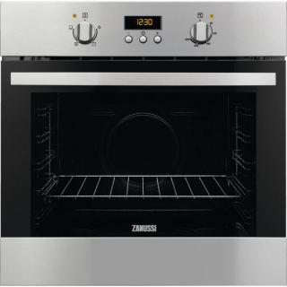 Zanussi Gas Oven 60cm + gas grill with distibuting fan , digital - ZOG15311XK