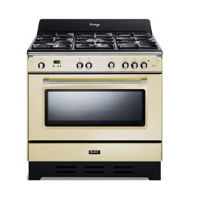 Elba cooker 4 Gas burners + 1 triple burner-cast iron pan supports - 6 functions -safety devices 9DVAC888ICK