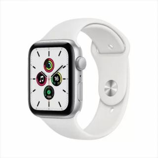 APPLE WATCH SE GPS 44MM SILVER ALUMINIUM CASE WITH WHITE SPORT BAND MYDQ2AE/A
