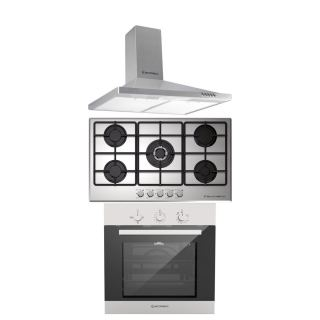 Ecomatic Built in gas hob 90 cm + Built in gas oven 60 cm with fan + Built in hood 90 cm H95B