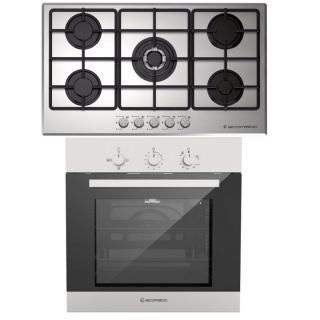 Ecomatic Built in gas hob 90 cm + Built in gas oven 60 cm with fan