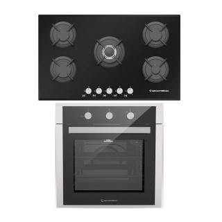Ecomatic built in gas hob 90 cm S907RC + built in gas oven 60 cm with fan G6434T