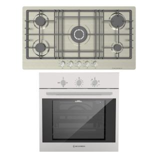 Ecomatic Built In Hob 92 Cm + Gas Oven 60 Cm