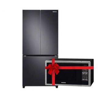 Samsung Refrigerator RF49A5002B1 French Door, Black, 550L Gross, Internal Digital Display, Multi Air Flow, Digital Inverter, Twin Cooling - Thailand
