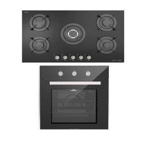 Ecomatic built in gas hob 90 cm S947CMC + built in gas oven 60 cm with fan G6404GT