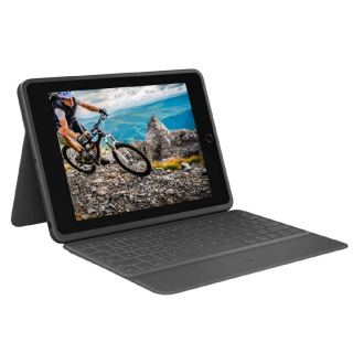 Logitech Rugged Folio - iPad (7th and 8th generation) Protective Keyboard Case with Smart Connector and Durable Spill-Proof Keyboard
