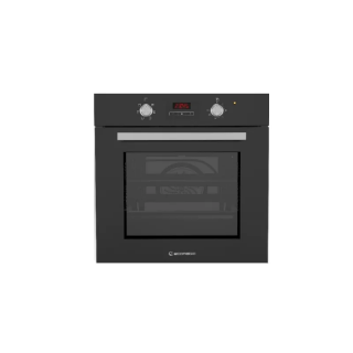 Ecomatic 60 cm Electric Oven + Electric Grill - Black Crystal Digital TOUCH 6 Functions+ Distribution Fan E6406GTD