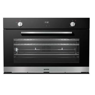 GORENJE BUILT-IN GAS OVEN 90CM WITH GRILL BLACK GLASS BOG932A20FBG