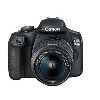 Canon EOS 2000D 18-55 IS, 24.1 MP, DSLR Camera, Black