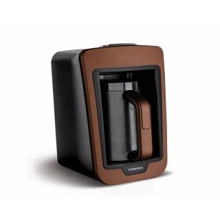 محضرة قهوة تركي بالحليب تورنيدو أوتوماتيك 280مل ، 535وات لون بني مصممة بتقنية لومينا سينس ومزودة بنظام للحماية