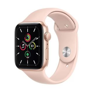 APPLE WATCH SE GPS 44MM GOLD ALUMINIUM CASE WITH PINK SAND SPORT BAND MYDR2AE/A