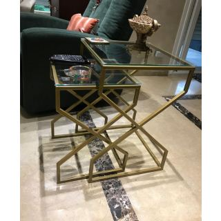 Two X Shape nesting side tables