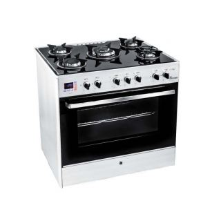 UNIONAIR COOKER ICHEF 80*60 CM 5 BURNERS GLASS TOP WITH FAN SAFETY ALUMINIUM: C6080GS-AC-383-IDSH