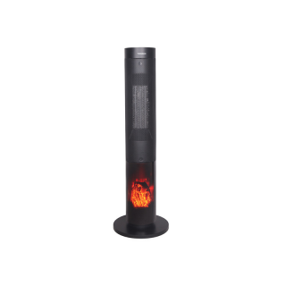 TORNADO Electric Ceramic Heater 2000 Watt For 20 meter In Black Color With Remote Control TPH-2000W
