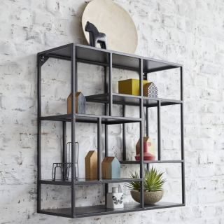 Electrostatic Paint Steel Display Unit Wall Mounted WU-001 cube furniture