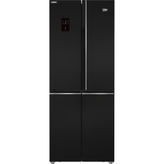 BEKO refrigerator side by side 450 litre nofrost 4 doors digital black GNE480E20ZBH
