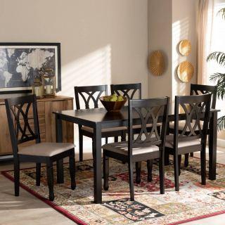 6-chair dining set [ Reneau ] w749