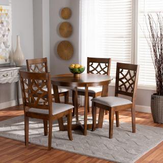 4-chair dining set [ Sandra Round Cross ] w762