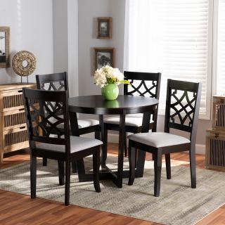 4-chair dining set [ Sandra Round Cross ] w763