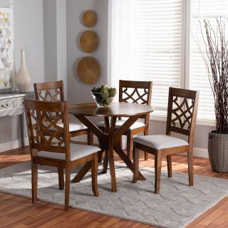 4-chair dining set [ Sandra Round ] w764