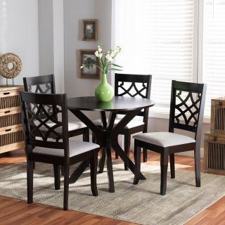 4-chair dining set [ Sandra Round ] w765