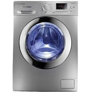 White Point Grando Front Loading Digital Washing Machine, 8 KG, Silver - WPW8121DSC