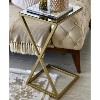 X side table (35*35*H65) gold or black