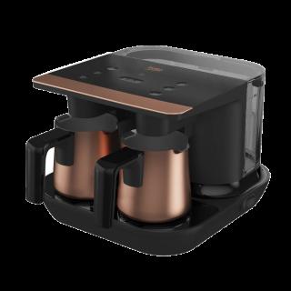 Beko Turkish Coffee Machine Double Pot, Black/Gold - TKM 8961 B