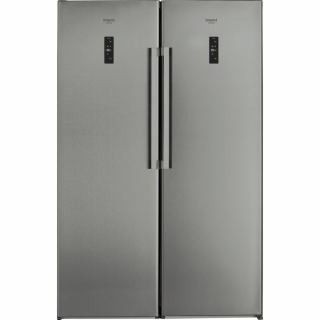 ARISTON REFRIGERATOR 363 LITER ONE DOOR SILVER SH8 2D XROFD and ARISTON FREEZER NO FROST 7 DRAWERS capacity 260 LITERS DIGITAL stainless UH8 F2D XI