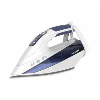 TORNADO Digital Steam Iron 2400-2800 Watt With Ceramic Non-Stick Soleplate In White x Blue Color TST-2400E