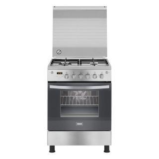 Zanussi Cool Max Freestanding Digital Gas Cooker, 4 Burners, Stainless Steel, 60 cm - ZCG64396XA