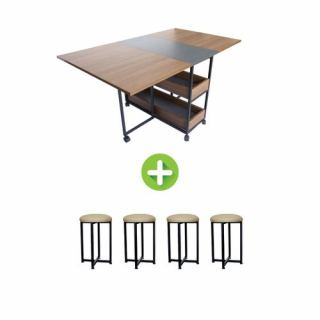 Artistico Modern Dining Table + 4 Chairs
