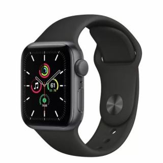 APPLE WATCH SE GPS 40MM SPACE GRAY ALUMINUM CASE WITH BLACK SPORT BAND MYDP2AE/A